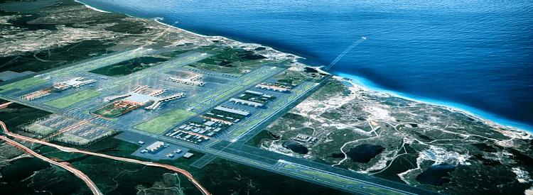 Foto: Nordic-Office of Architecture/Haptic Architecs. Protecto de nuevo aeropuerto de Estabul.