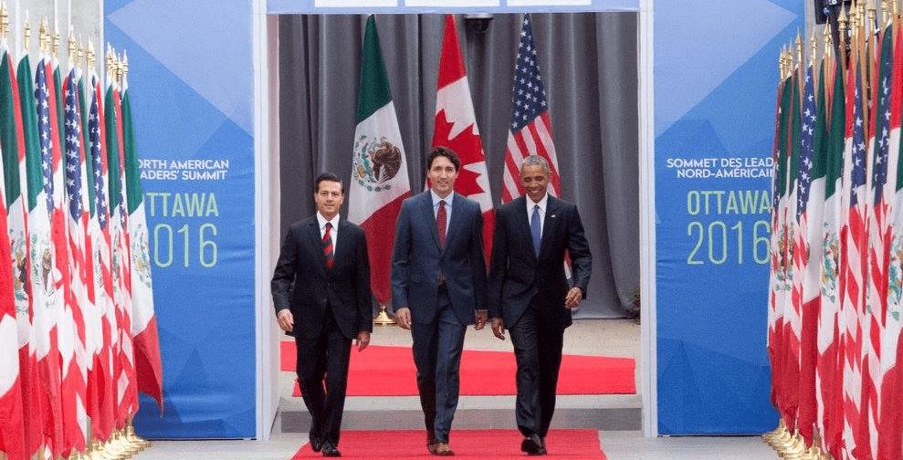 Foto: Presidencia de México. Los tres países tienen un Producto Interno Bruto (PIB) combinado de 28% respecto del PIB mundial.